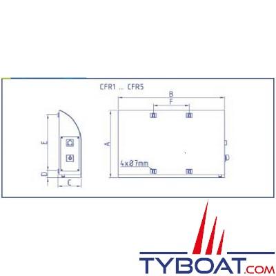 Enag - Radiateur Electrique Marine - Rael 24-500 TH - 24 Volts Courant Continu - 500 Watts
