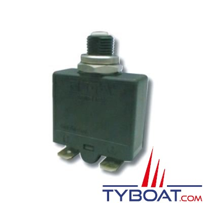 E.T.A - Disjoncteur thermique unipolaire type 1658 réarmable 12/24/240 Volts 20 Ampères