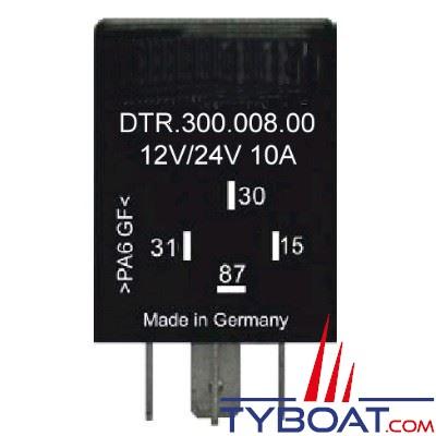 E.T.A - Télérupteur, variateur dimmer 12/24 Volts 10 Ampères pour LED mono-tension