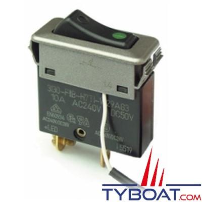 ETA - Interrupteur disjoncteur unipolaire à bascule avec LED de contrôle - 10A