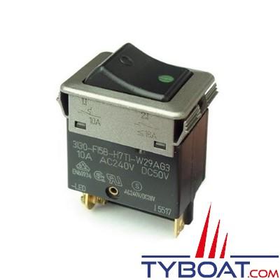 ETA - Interrupteur disjoncteur unipolaire à bascule avec LED de contrôle - 30A