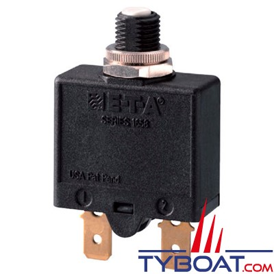 E.T.A - Disjoncteur thermique unipolaire type 1658 réarmable 12/24/240 Volts 10 Ampères
