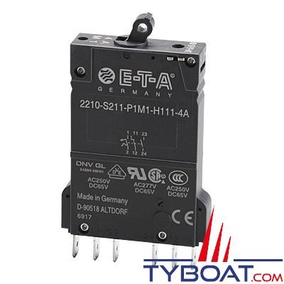 E.T.A - Interrupteur/disjoncteur magnéto-thermique unipolaire type 2210S2 12/24 Volts d.c - 220 Volts a.c - 10 Ampères