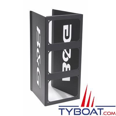 Étrier de fixation de mât pour 3 afficheurs B&G H3000 HVISION 20/20HV