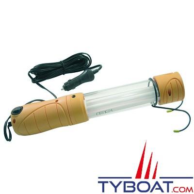 Euromarine - balladeuse à main étanche aux embruns - fluorescente - 12 volts
