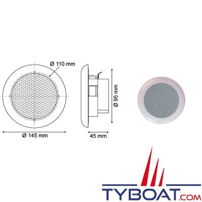 Euromarine - hauts parleurs marine Hi-Fi encatrables - 60 w - Ø 145 mm - (la paire)