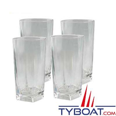 4 verres à orangeade incassables polycarbonate