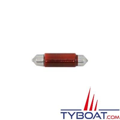 Ampoule navette 10x42mm 12v 10w (x2 pièces) Rouge