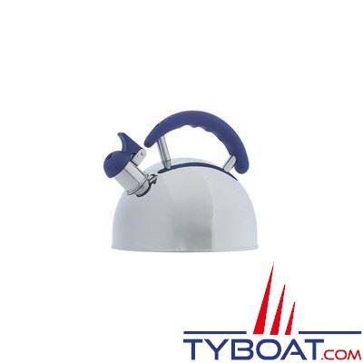 Bouilloire acier inoxydable 18/10 avec sifflet capacité 2L poignée antidérapante
