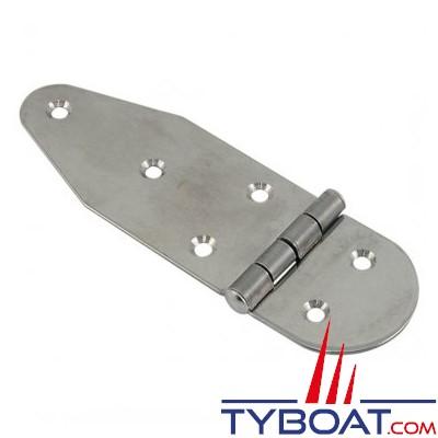 Charnière inox longueur 125 x largeur 40 mm épaisseur 1,5mm (x2 pièces)