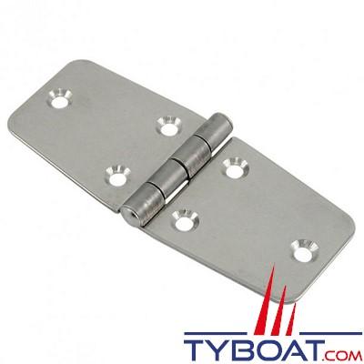 Charnière inox longueur  97 x largeur 40 mm épaisseur 1,5mm (x2 pièces)