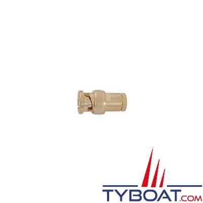 Connecteur BNC mâle (UG88) pour câble RG58 plaqué Or
