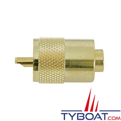 Connecteur PL259 mâle pour câble RG-58