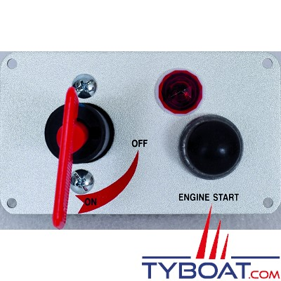 Coupe circuit 12V - 30A - tableau avec contacteur à poussoir