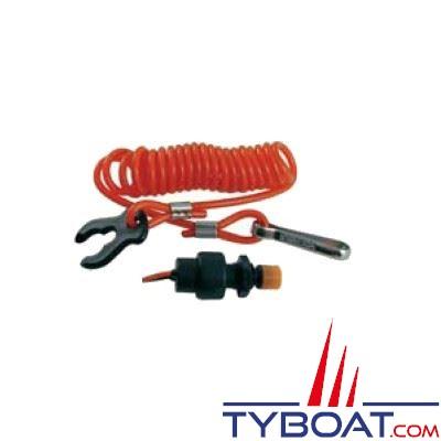 Coupe-circuit pour moteur hors-bord 12V 2 fils de sortie