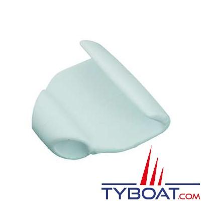 Crochet nylon plat (blanc) pour bâches de pneumatiques tresse Ø 6 mm (x4)
