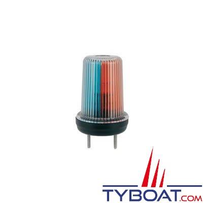 Feu de navigation tricolore étanche pour bateaux de moins de 12 mètres