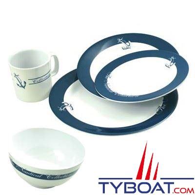 kit vaisselle 20 pi ces ligne nautique euromarine 004232 tyboat com. Black Bedroom Furniture Sets. Home Design Ideas