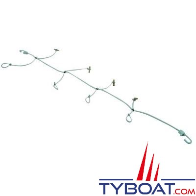 Multipattes à cabillot buis - longueur 4 mètres 9 branches
