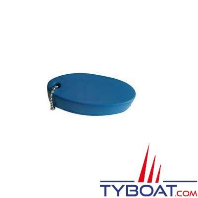 Porte-clés flottant en mousse avec chaine  80 x 35 mm