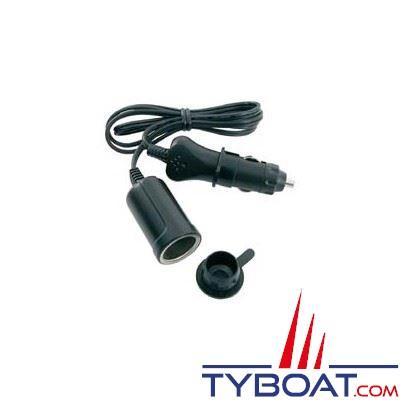 Rallonge bipolaire allume-cigares câble 2 x 1,5 mm2 longueur 3mètres 12V 5A