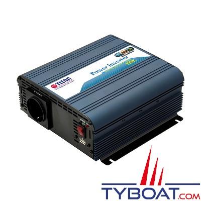 TITAN - Convertisseur 12V / 220V Quasi Sinus 600w
