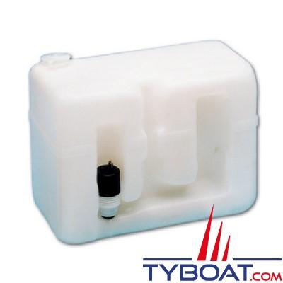 Exalto - Réservoir lave-glace en polyéthylène + 1 pompe 12 Volts - Capacité 8 Litres