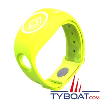 FELL Marine - Bracelet Silicone xBAND jaune pour MOB+