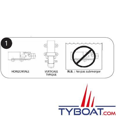 Flojet LF plus - Pompe automatique distribution eau douce 3,8L/min - 12V - RLFP122202A