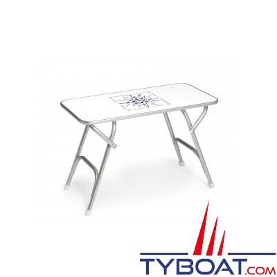 Forma - Table pliante rectangulaire - Cadre aluminium - 44 x 88 x 61 centimètres