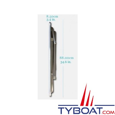 Forma - Table pliante rectangulaire - Cadre aluminium - 60 x 88 x 61 centimètres