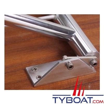 Forma - Table pliante rectangulaire - Haut de gamme - Plateau teck - 125 x 75 centimètres