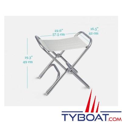 Forma - Tabouret pliant en aluminium pour bateau
