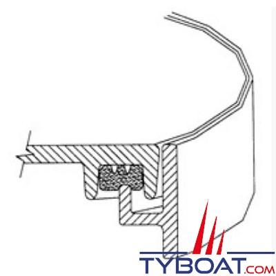 Freeman - Joint de trappe aluminium - Etanchéité sur chant - (au mètre)