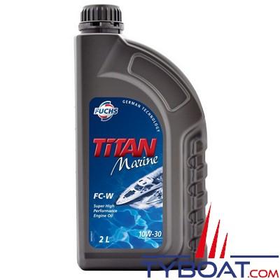 Fuchs - Titan marine FC-W SAE 10W-30 - Lubrifiant pour moteurs marins  - 4 temps - Essence - 2 litres