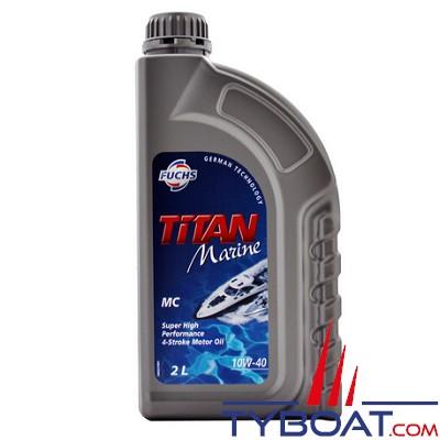Fuchs - Titan marine TC-W3 - Lubrifiant pour moteurs hors-bord 2 temps - Essence - 2 litres