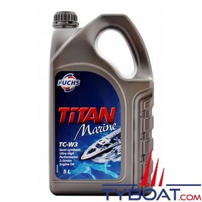 Fuchs - Titan marine TC-W3 - Lubrifiant pour moteurs hors-bord 2 temps - Essence - 5 litres