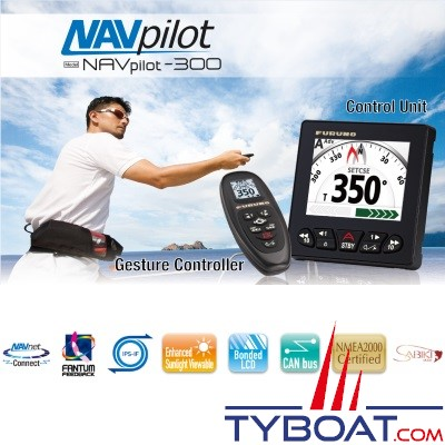 FURUNO - NAVpilot 300 Pilote automatique FAP-3011 (Indicateur) + FAP-3012 (Calculateur) + GC-001 (Commande déportée sans fil)