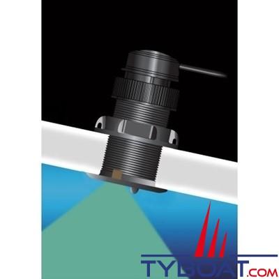 Raymarine - Sonde traversante plastique DST810 - 235 KHz - Triducer profondeur/vitesse/température - Connecteur Seatalk NG / Bluetooth