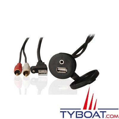 Fusion - Câble USB 2m avec prise jack 3.5mm