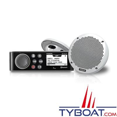 Fusion - KIT Hifi marine RA70 - AM/FM/Aux/Bluetooth/USB - 200 Watts RMS avec 2 haut-parleurs MS-EL602