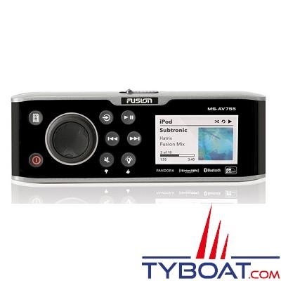 Fusion - lecteur DVD 755 series AM/FM/DVD Player /BT/USB/NMEA/Ethernet - 280 W