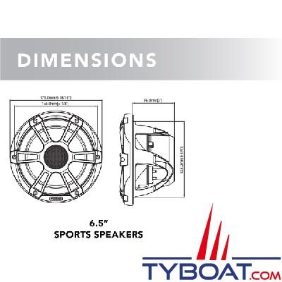 Fusion - Signature série 3 - Haut-parleurs marine 6.5