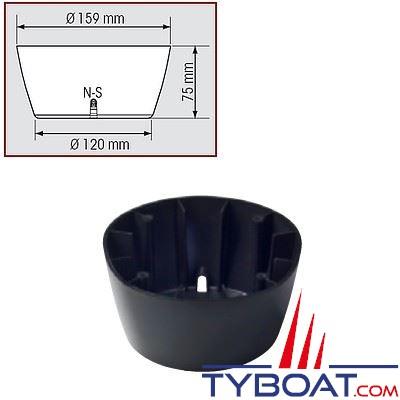 Fût noir pour compas Plastimo Offshore 115 et Olympic 115