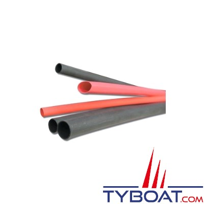 Gaine thermo + colle, auto-adhésive noire STF -  Ø  int. 24 mm - longueur 1,2 m