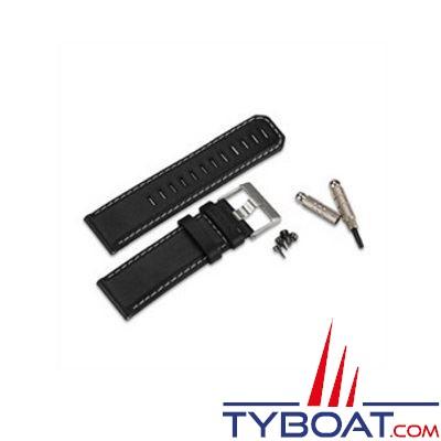 GARMIN - Bracelet cuir noir pour montre GPS Fenix,Tactix et Quatix