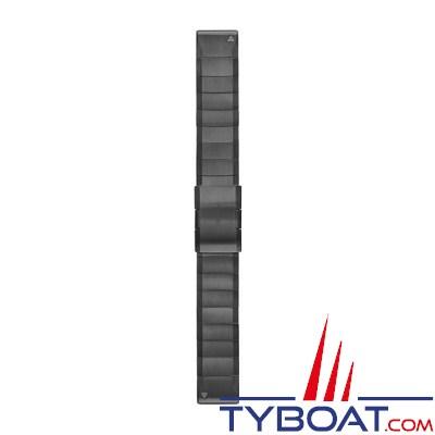 Garmin - Bracelet QuickFit™ - 22mm - Acier inoxydable gris