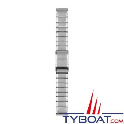 Garmin - Bracelet QuickFit™ - 22mm - Acier inoxydable gris argent