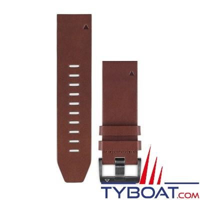 Garmin - Bracelet QuickFit™ - 22mm - Cuir marron