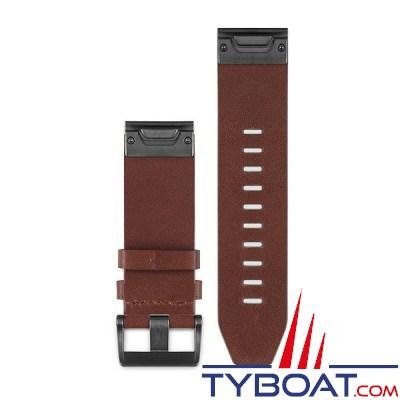 bracelet cuir marron 22mm